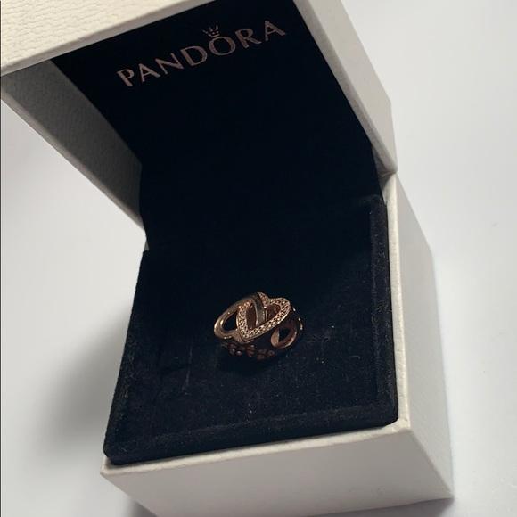 7dd385510 Pandora Jewelry | Entwined Love Rose Gold Charm | Poshmark
